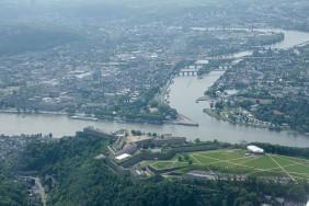 Rundflug über Koblenz